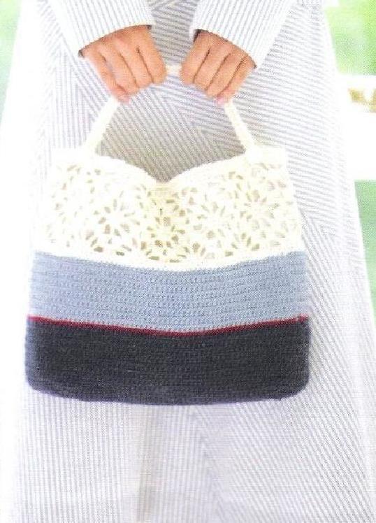 Pin de Maria Tenorio en Crochet - bolsas, cestos, estuches, etc ...