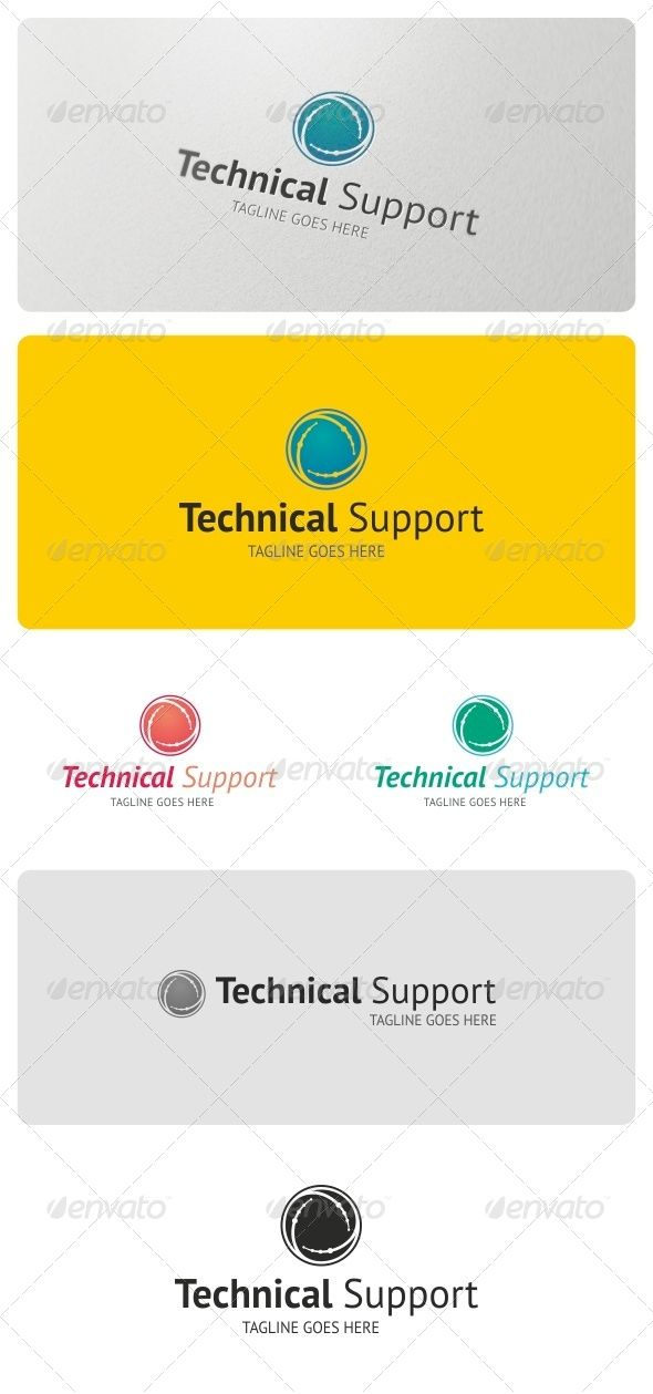 Technical Support Logo Template | Logo templates, Template and Logos