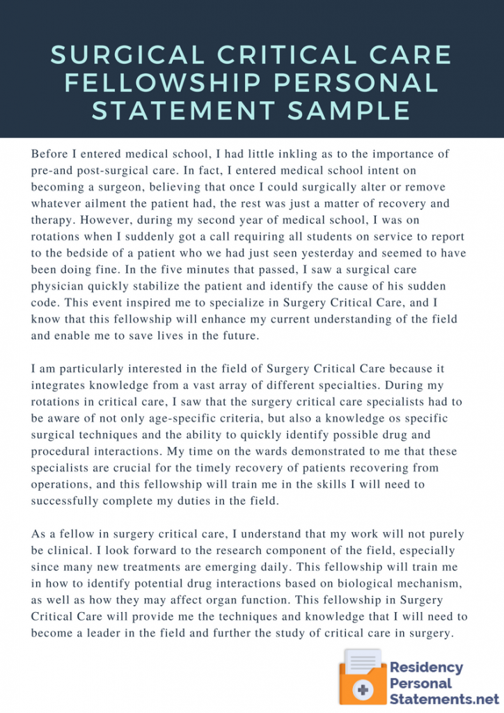 Pin by Medical Fellowship Personal Statement Samples on