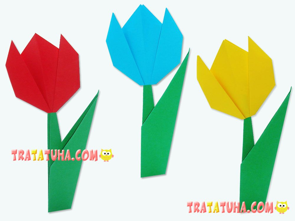 Photo of Origami tulip for kids: step-by-step instruction