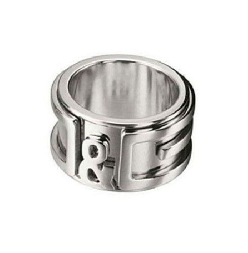 bba1ee59af6e Dolce Gabbana D G Men Silver Stainless Steel Logo Ring DJ0736 ...