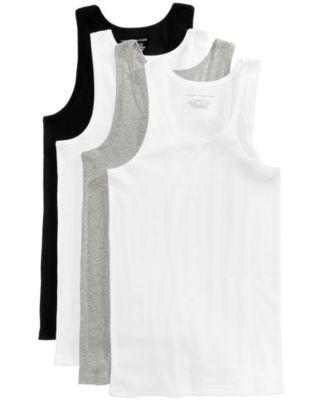 TOMMY HILFIGER Tommy Hilfiger 3+1 Bonus Pack Cotton Tank - 09Ttk02. #tommyhilfiger #cloth # underwear