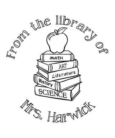 Love this Apple on Books 'From the Library of' Personalized Stamp by Stamp Out Online on #zulily! #zulilyfinds