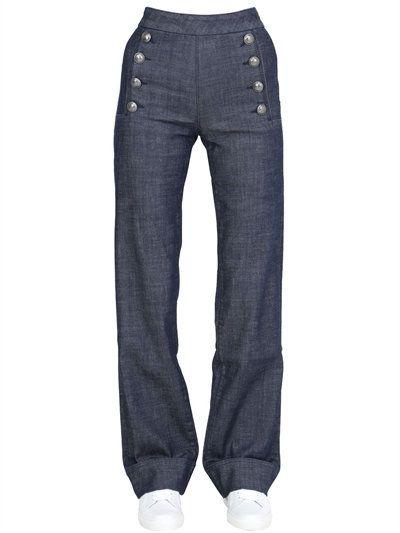 TOMMY HILFIGER TOMMY X GIGI SAILOR DENIM JEANS, BLUE. #tommyhilfiger #cloth #jeans
