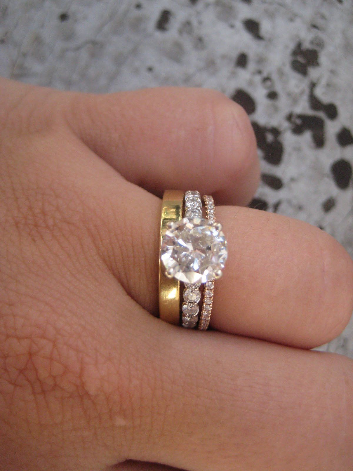 for trio w ring cheap bands sets wedding t diamond her band ct of gold set yellow