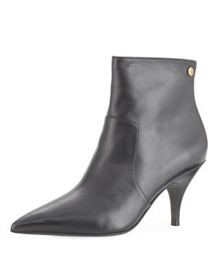 d66110c808f Tory Burch Georgina Mid-Heel Leather Booties
