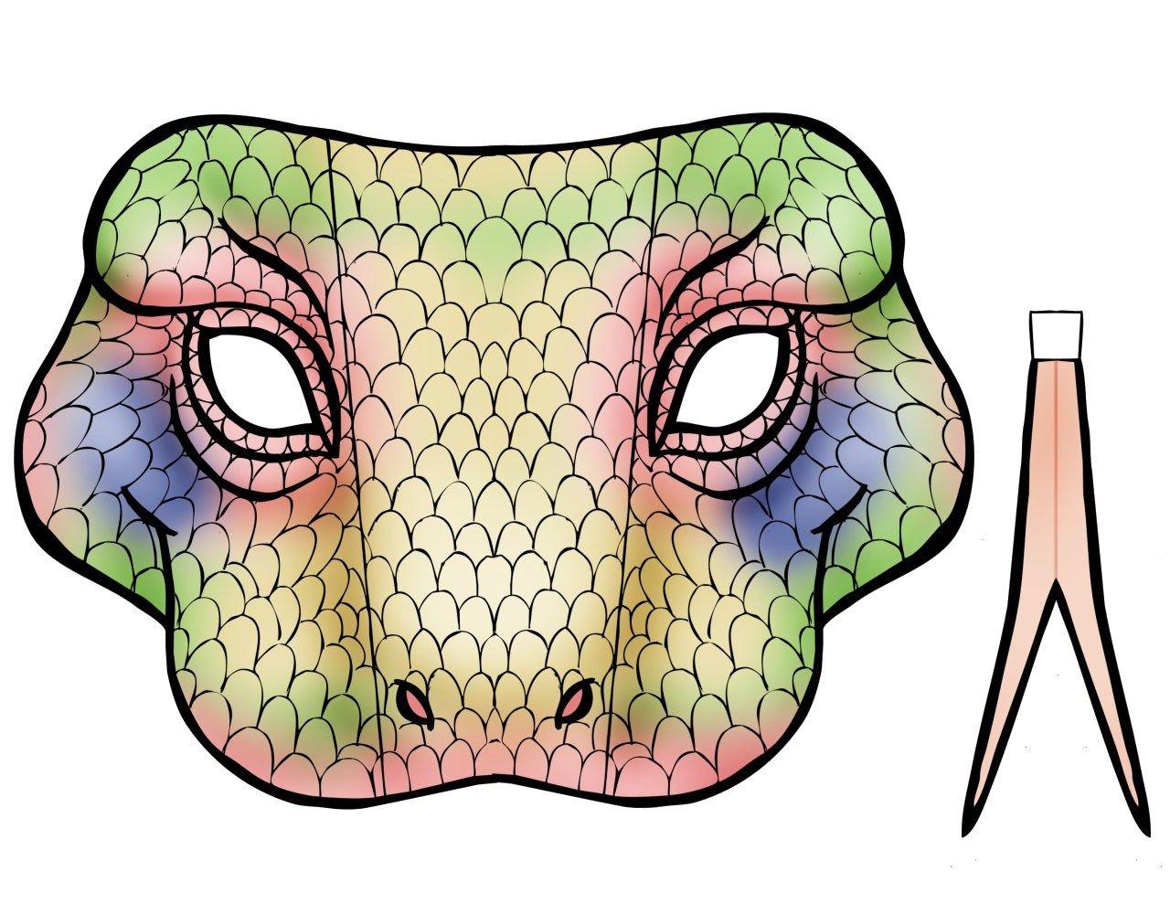 máscara de dragón de komodo | carnaval | Pinterest | Máscara de ...