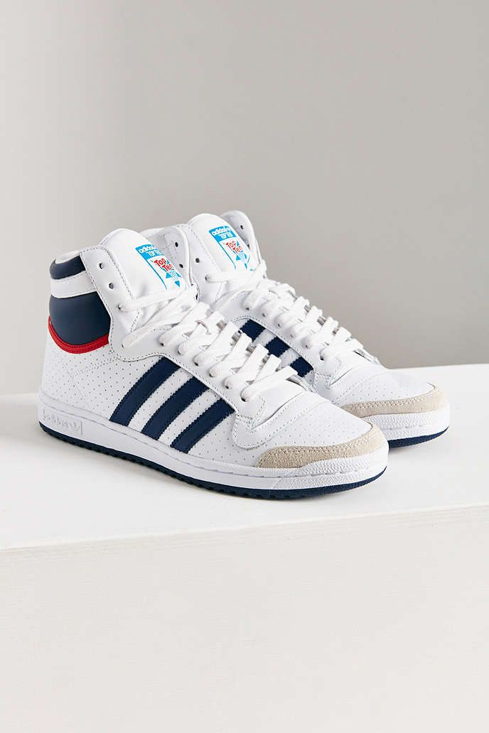 adidas Originals Top Ten Hi Leather Sneaker - Urban Outfitters