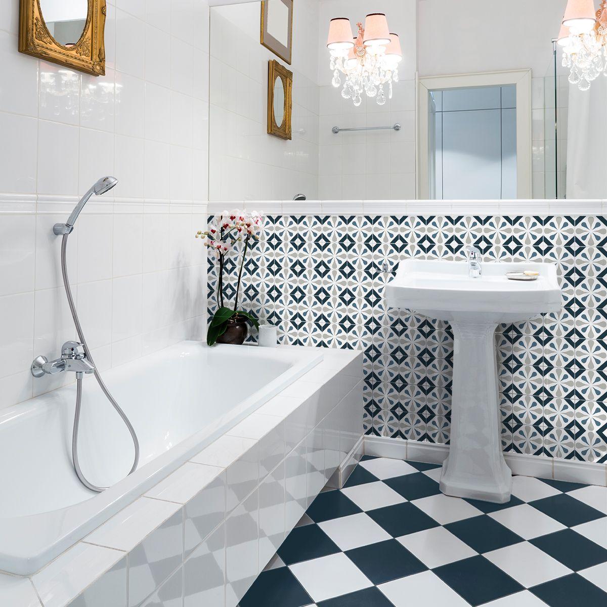 30 stickers carreaux de ciment azulejos