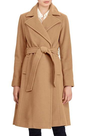Best Seller Lauren Ralph Lauren Wool Blend Wrap Coat online - Toplikestylish