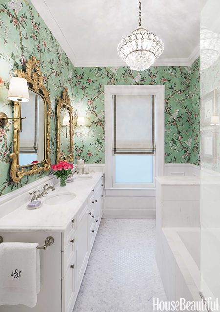 A Bathroom With Grown Up Glamour Glamorous Bathroom Decor