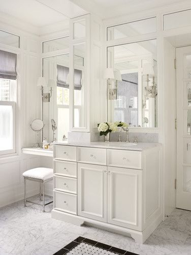 Traditional Addition Bathroom With Makeup Vanity Traditional Bathroom Vanity Design