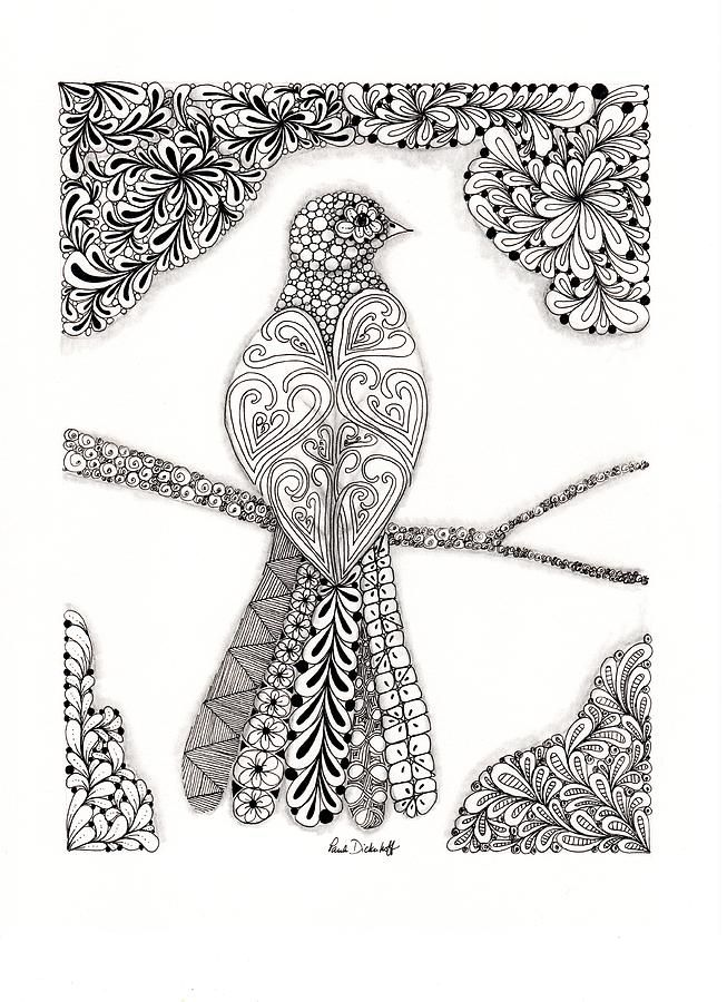 Good Morning Birdie Zentagle Arte Zentangle Dibujos Y Libros