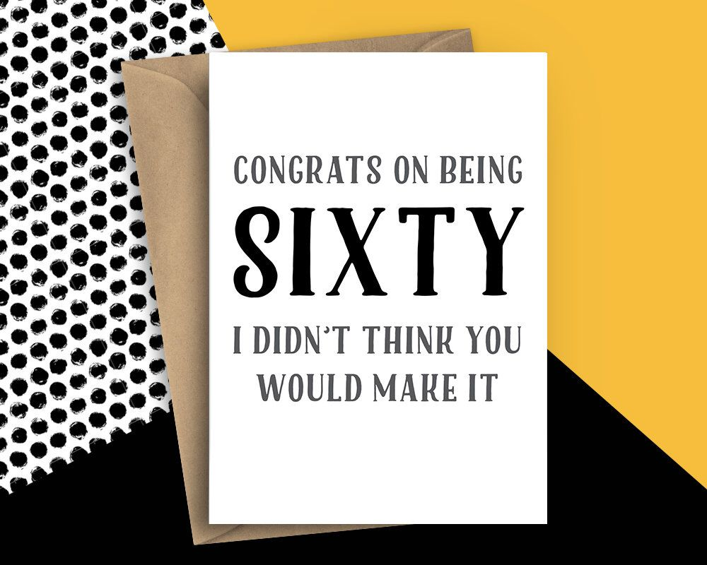 Funny 60 Birthday Card 60th The Big Sixty For Him Happy Cards Sixtieth Thebig60