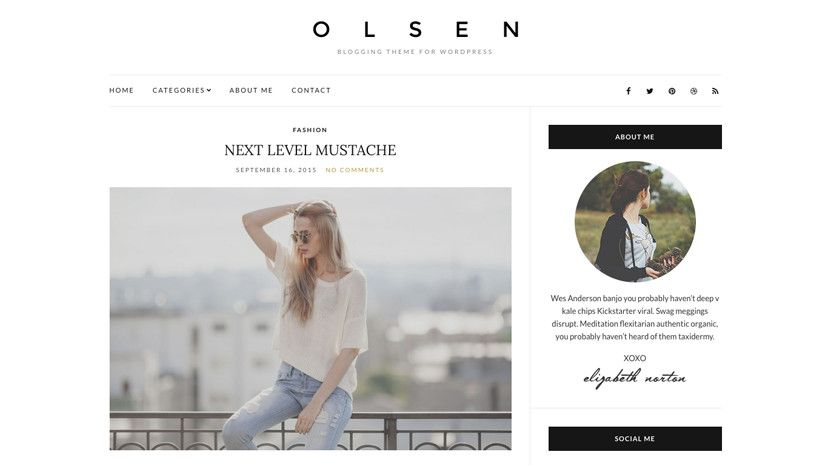 Olsen Light A fantastic free fashion/lifestyle blogging theme for ...