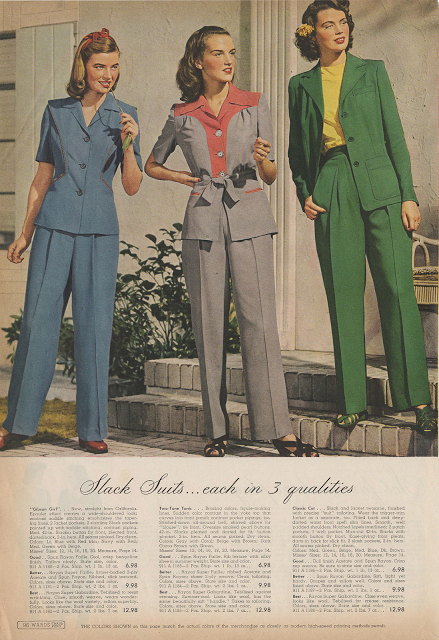 More Forties Inspired Flair: Cataloging Catalogs: Montgomery Ward Spring Summer 1943