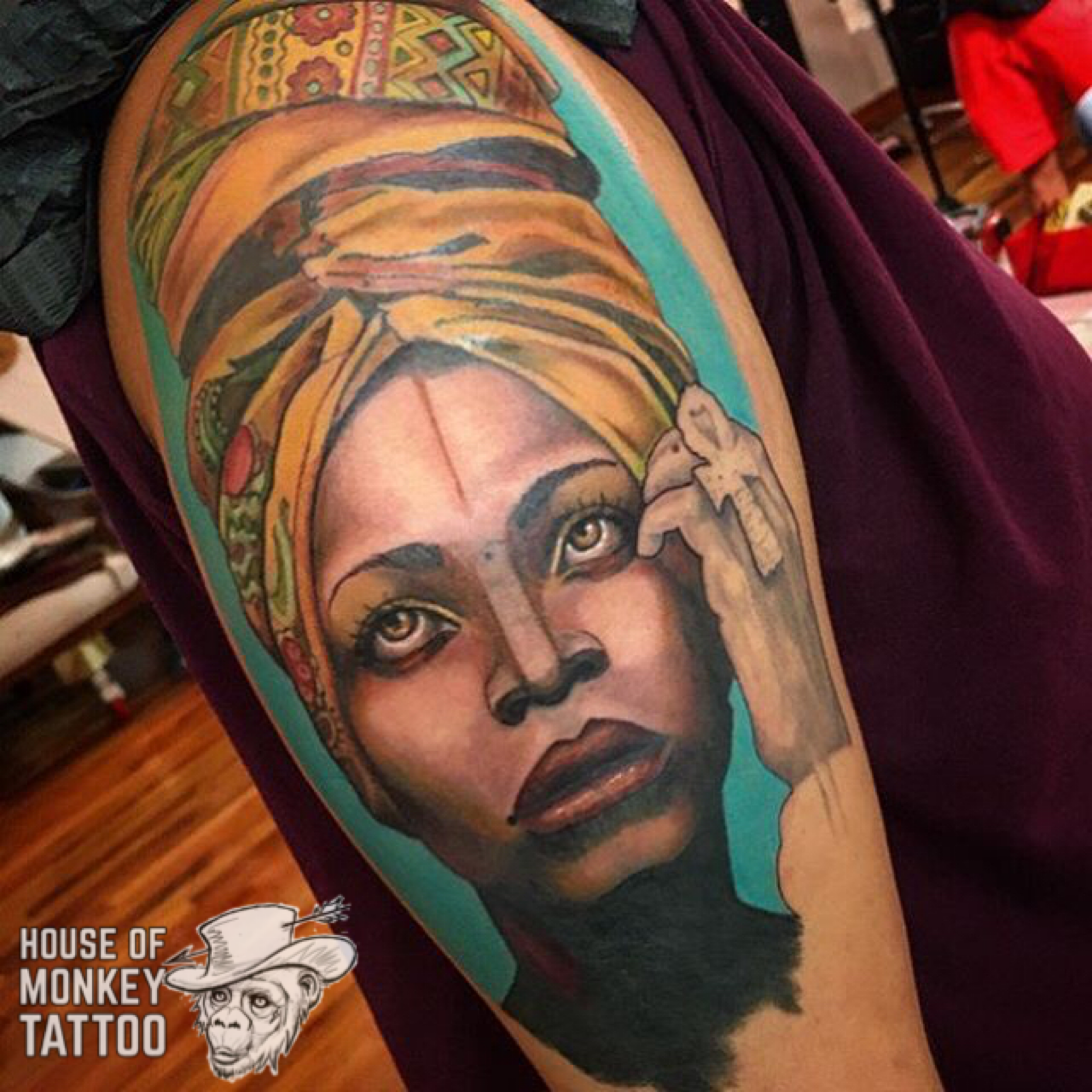Pin by house of monkey tattoo on tattoos pinterest for Erykah badu real tattoos