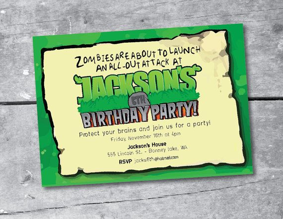 Plants vs zombies party invitation printable by itsybelle on etsy plants vs zombies party invitation printable by itsybelle on etsy 1600 stopboris Gallery