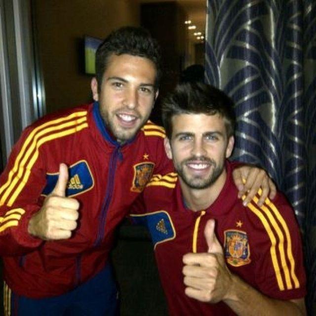 Piquè and Jordi Alba