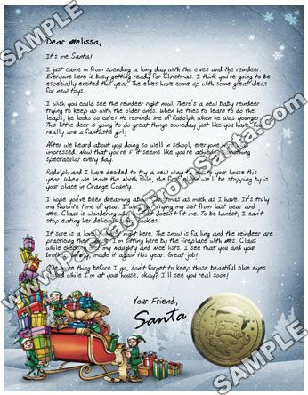 WwwPackagefromsantaCom  Personalized Letter From Santa Claus