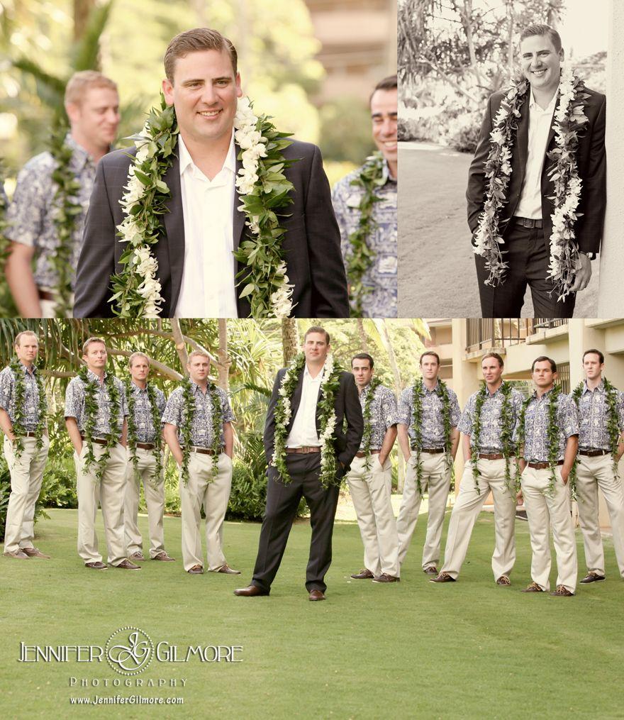 Hawaiian Wedding Island Kauai Details Destination Groom Groomsmen