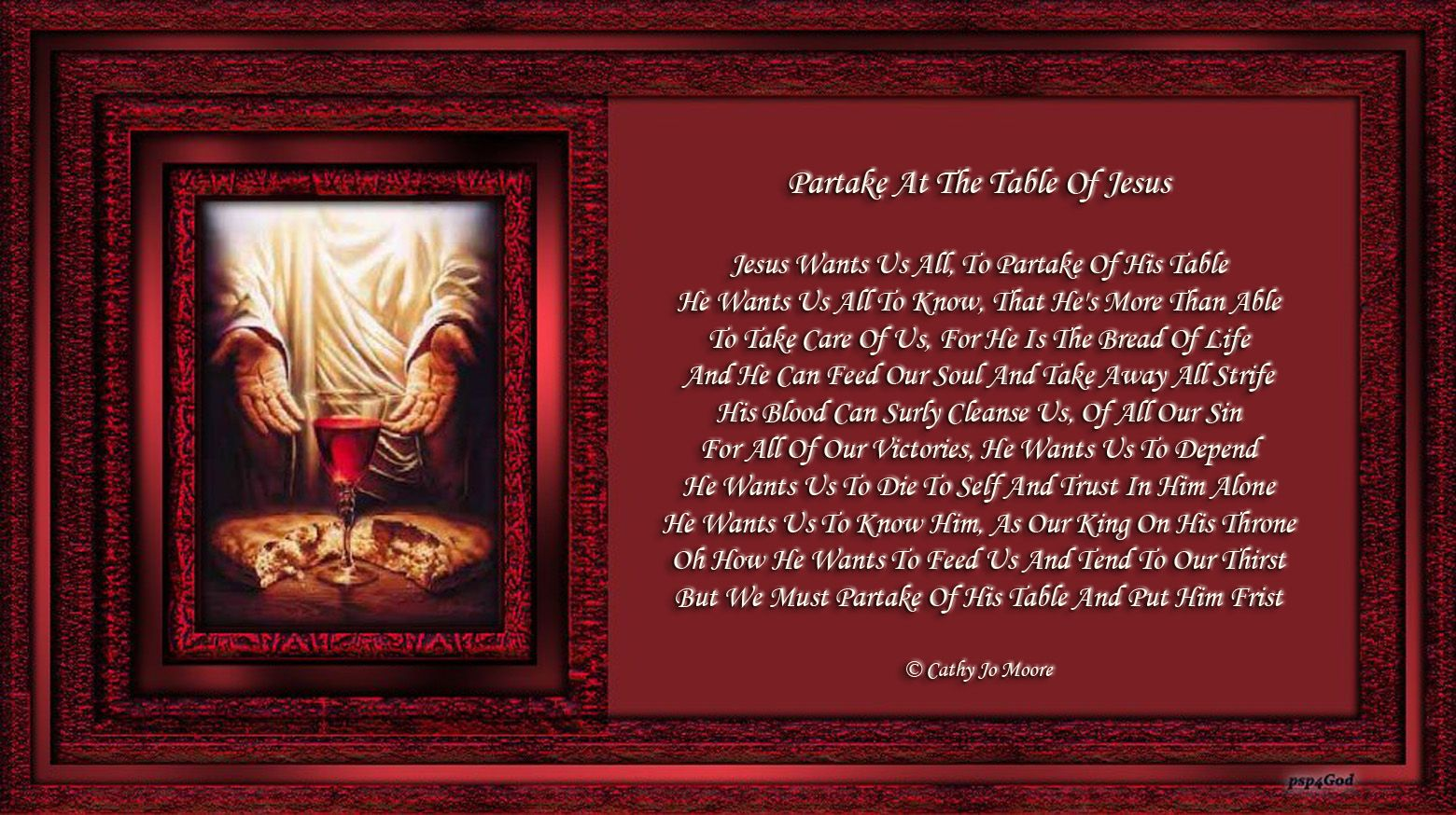 Partake At The Table Of Jesus