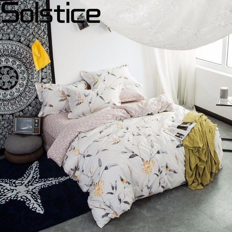 Baumwolle Einfache Pastoral Floral Printed Style Bettwasche