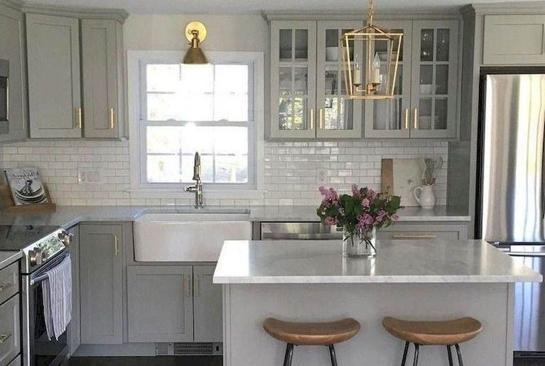 Ways To Style Gray Kitchen Cabinets Grey Kitchen Cabinets Kitchen Cabinet Design Grey Kitchen