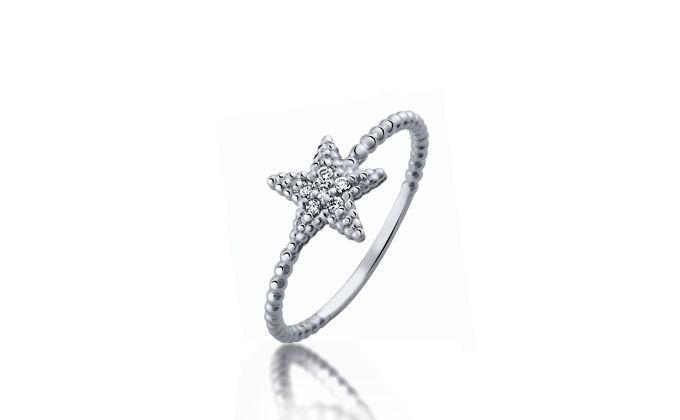 Star shape engagement ring