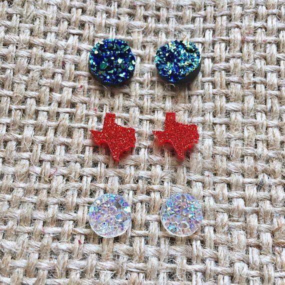 Texas Earring Set Red Earrings