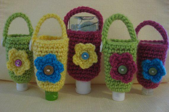 Flower Hand Sanitizer Cozy By Marmeesmonkeesnmore On Etsy 4 00