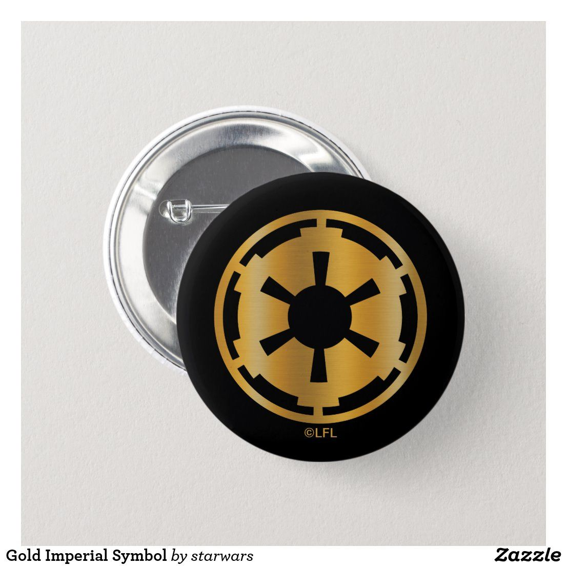 Gold Imperial Symbol Button Imperial symbol