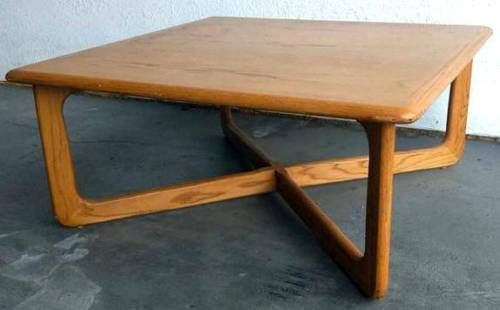 Retro Likely Mid Century Modern Vintage Lane Wooden Coffee Table Light Blonde Wood Tone Low Square With Rounded Corne Coffee Table Wood Coffee Table Table