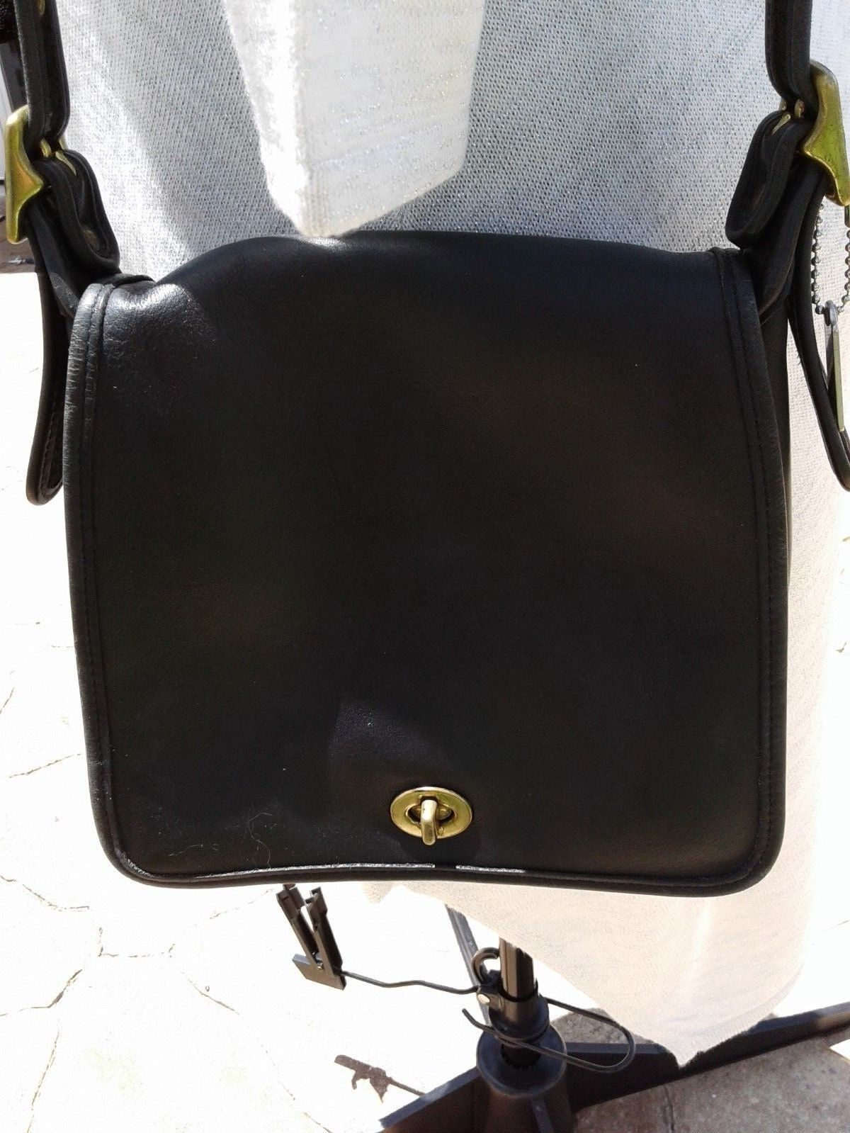 Vintage Coach Black Leather Cross Body Bag Made In The Usa Ebay