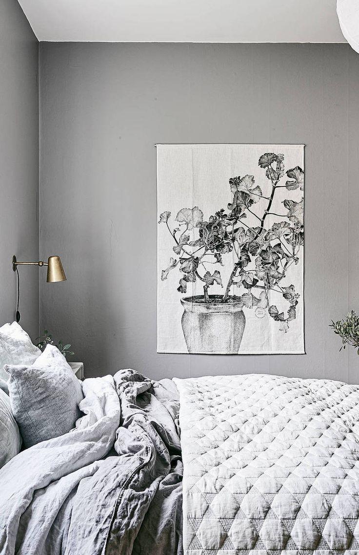 Parete Grigia Camera Da Letto cozy bedroom in grey | camera da letto pareti grigie, camera