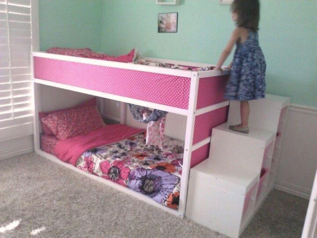Ikea Kura Bunk Bed With Trofast Stairs Ikea Kids Room