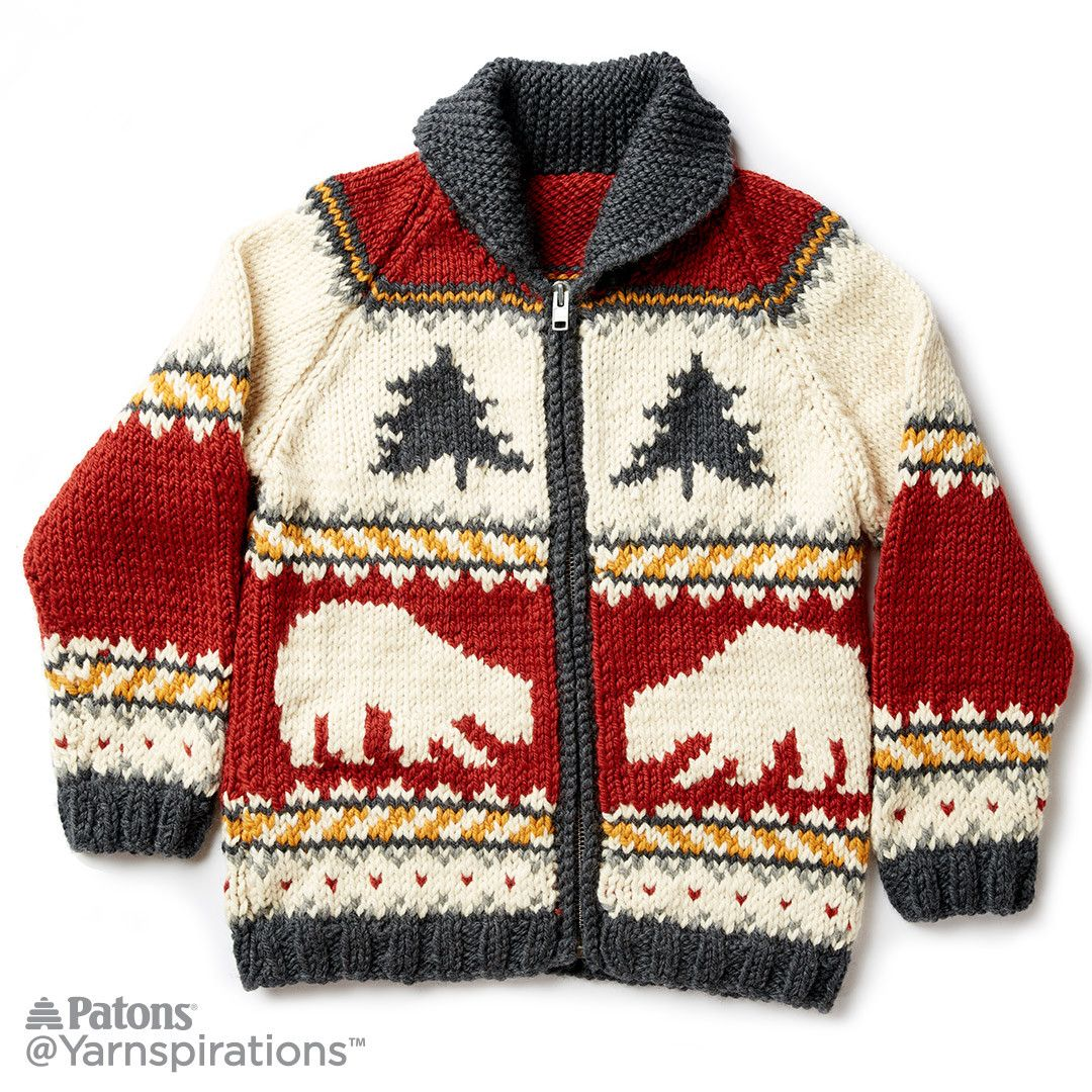 True North Knit Jacket | Knitting | Pinterest | True north, Cowichan ...