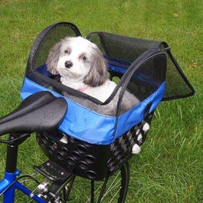 BiKase Bessie Front Bicycle Basket Black with Quick Release Handlebar Mount