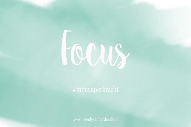 Focus is mijn superkracht of het woord van de dag!  #artemis