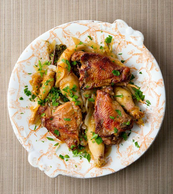 Pheasant Thighs With Garlic And Root Vegetables, In This
