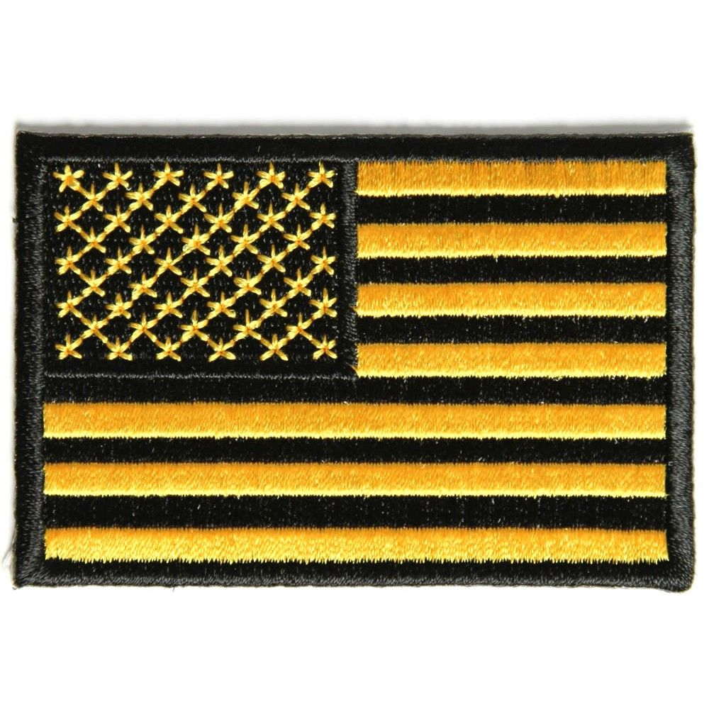 Black /& White US AMERICAN FLAG REFLECTIVE  Biker Patch