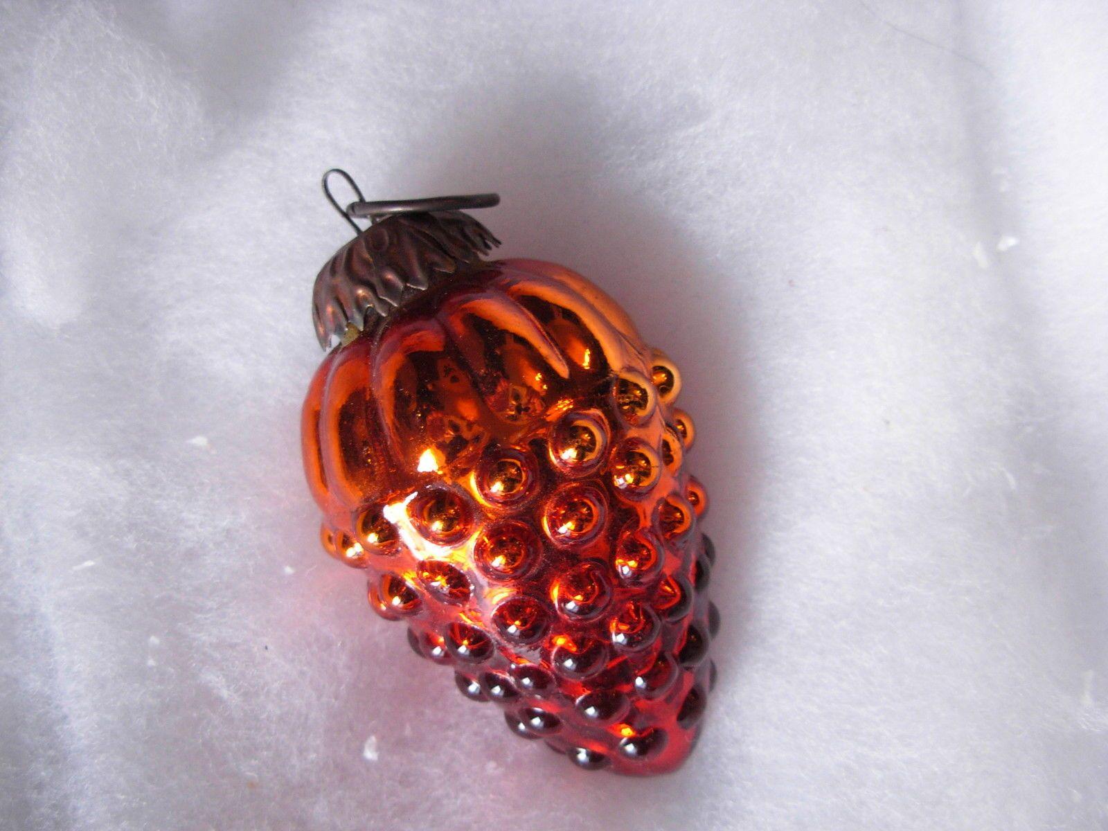 Boule De Noel En Verre Meisenthal 1 ancienne boule de noël raisin orange verre églomisé mercurisé