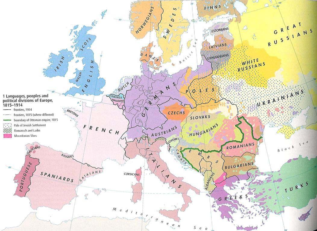 Karte Von Europa 1914.Europa Ethnic Map 1914 Karten Historische Karten