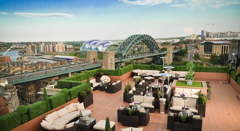 Take In The Rooftop View From Vermont Hotel Newcastle Upon Tyne Unitedkingdom