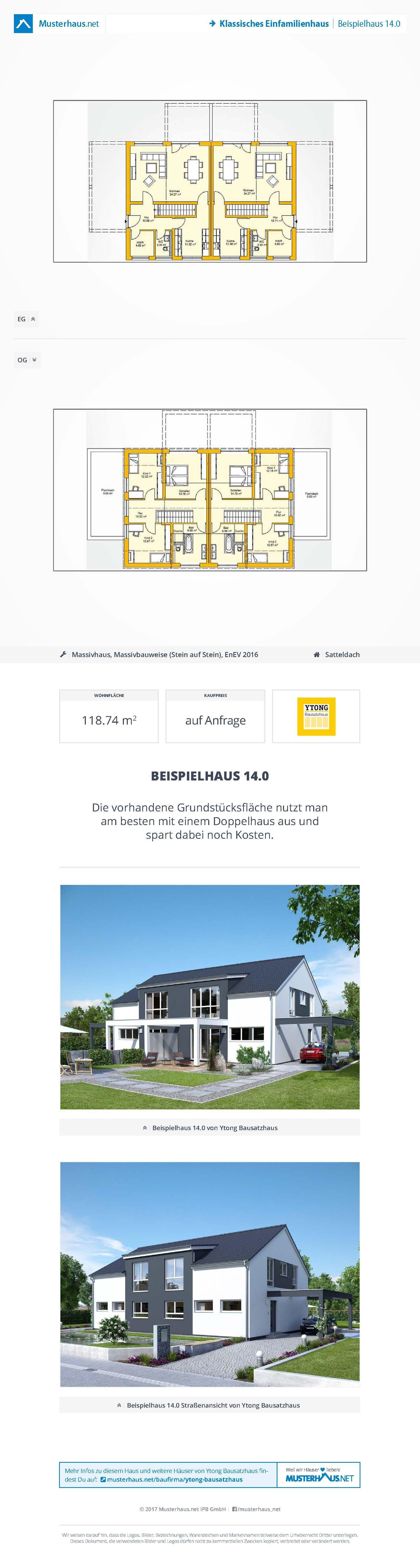 Ytong Bausatzhaus Alle Hauser Preise Und Grundrisse Ytong Bausatzhaus Bausatzhaus Ytong