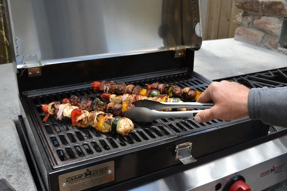 Camp Chef Stainless Steel Barbecue Grill Box 3 Burner Stoves   OutdoorCooking.com