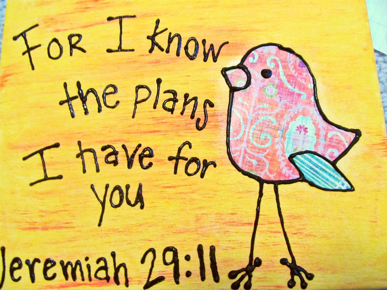 DIY Jeremiah 29:11 Painting