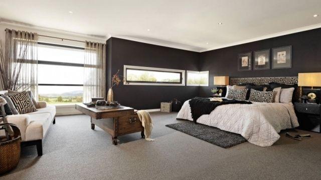 Chambre à coucher de luxe 107 idées du0027architectes du0027intérieur - teppichbode schlafzimmer grau