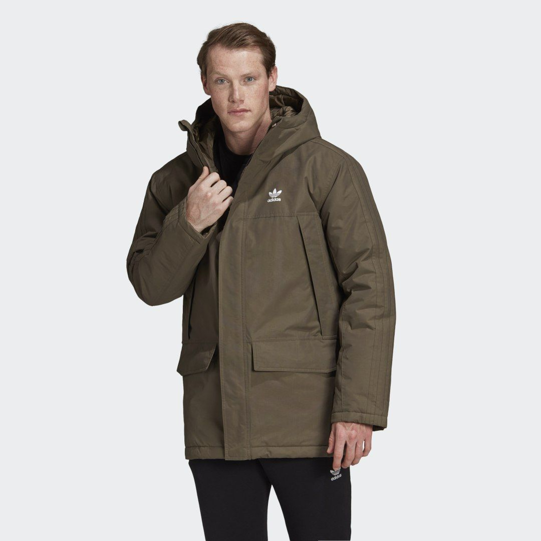 Photo of Gepolsterte Parka Brown Herren