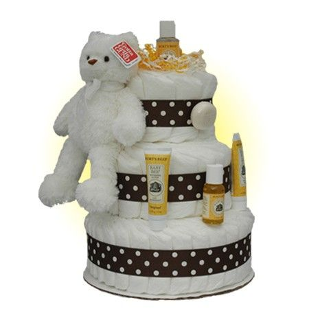 Baby Shower Gifts: Brighten Bear B 3-Tier Diaper Cake